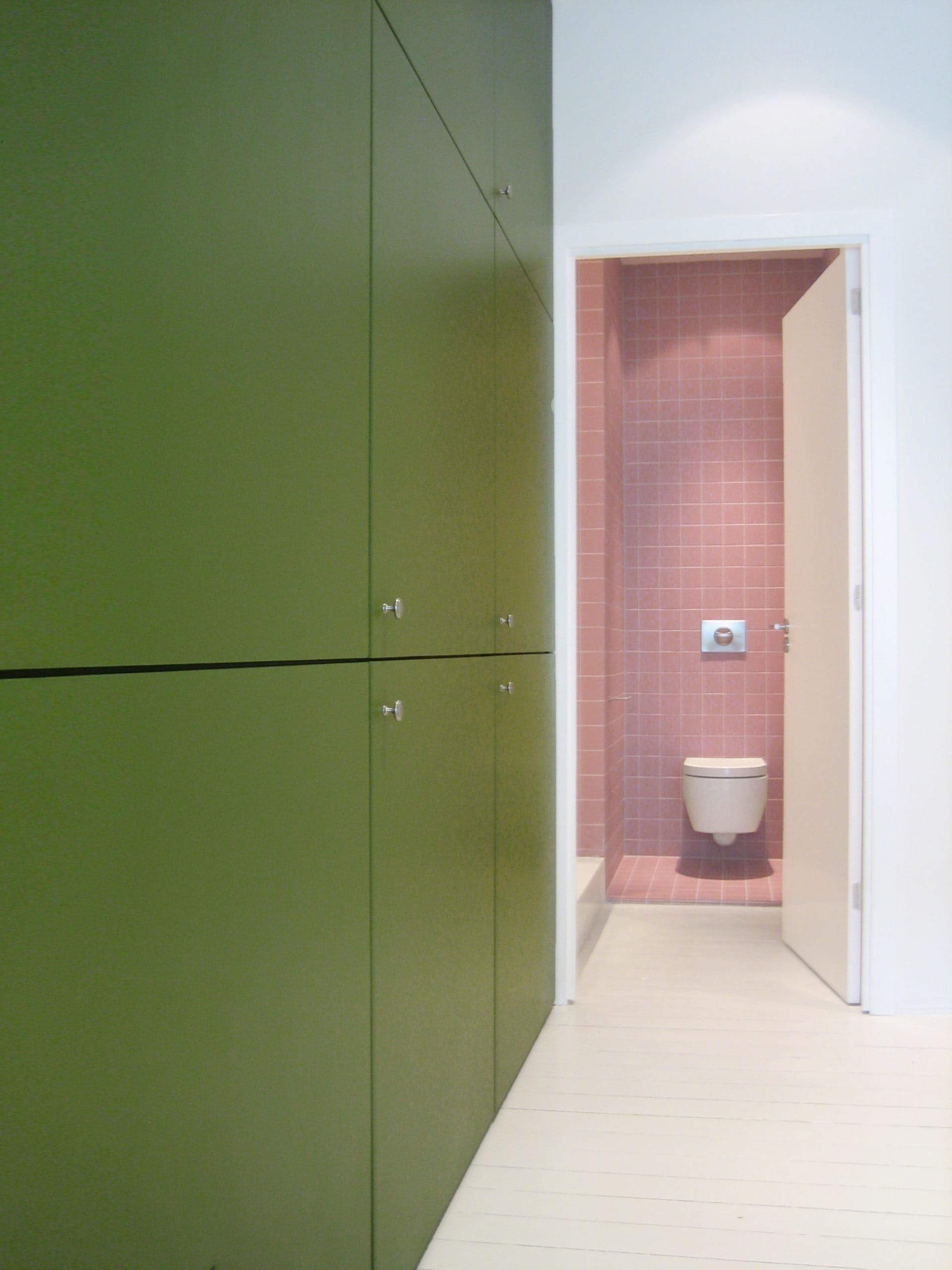 groene inbouwkast linnenkast appartement
